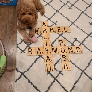 Customized Scrabble Wall Decor